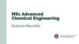 Thumbnail for entry Roberto Mennitto discusses MSc Advanced Chemical Engineering - the student experience