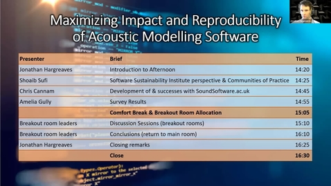 Thumbnail for entry Maximizing Impact and Reproducibility of Acoustic Modelling Software Workshop Session 4