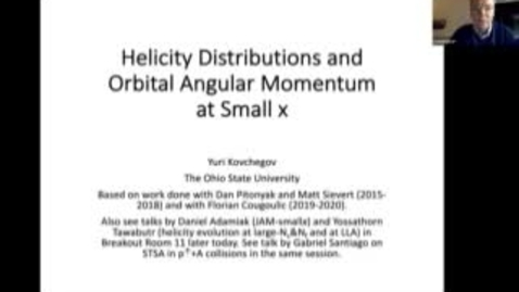 Thumbnail for entry REF2020: Yuri - Quark and gluon helicity distributions and OAM at small x
