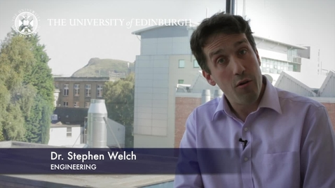 Thumbnail for entry Stephen Welch- Engineering- Research In A Nutshell - School of Engineering -20/01/2013