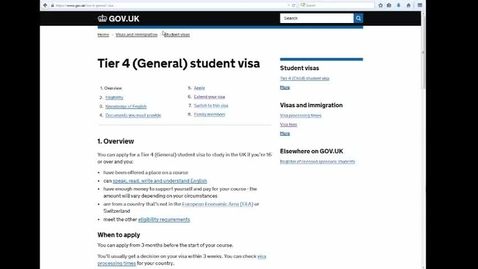 Thumbnail for entry How to apply for a Tier 4 visa in the UK