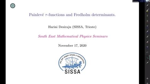 Thumbnail for entry South East Mathematical Physics Seminars: Harini Desiraju