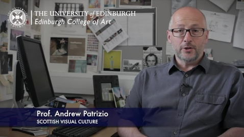 Thumbnail for entry Andrew Patrizio -Scottish Visual Culture - Research In A Nutshell-Edinburgh College of Art-19/10/2012