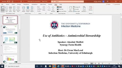 Thumbnail for entry Alasdair Moffett: Use of Antibiotics - Antimicrobial Stewardship