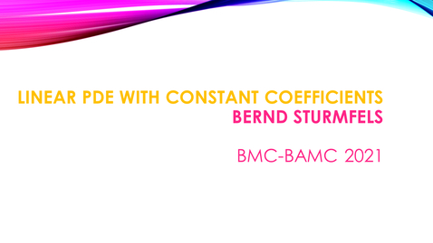 Thumbnail for entry BMC BAMC 2021 Bernd Sturmfels