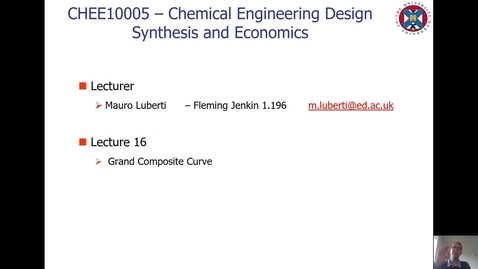 Thumbnail for entry Lecture 16 - Grand Composite Curve