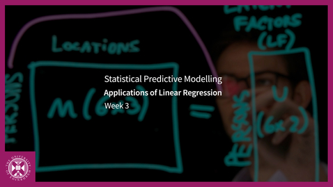 Thumbnail for entry Applications of Linear Regression