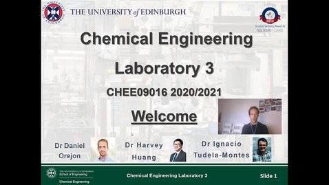 Thumbnail for entry Welcome Lecture Chem Eng Labs 3