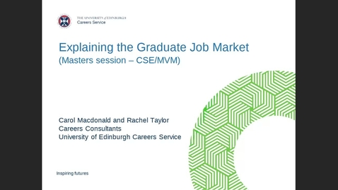 Thumbnail for entry Masters Careers: Explaining the Graduate Job Market