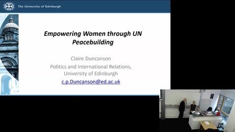 Thumbnail for entry 28 Sep 2018 —Claire Duncanson (University of Edinburgh)