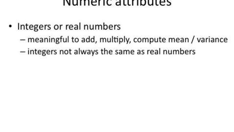 Thumbnail for entry Numeric Attributes and Outliers