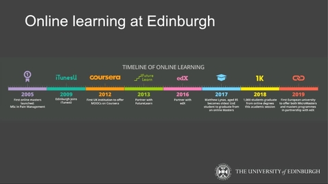 Thumbnail for entry Online Learning - what is it like to study online? 26/02/2020