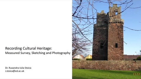 Thumbnail for entry Measured Survey, Sketching, and Photography (part 1)
