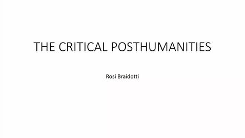 Thumbnail for entry Critical Posthumanities