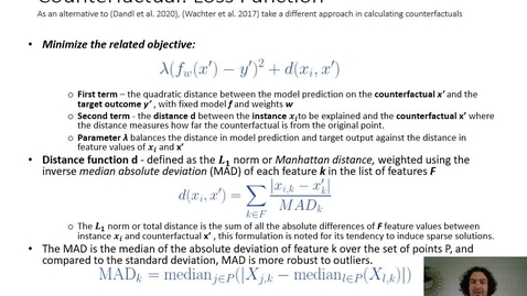 Thumbnail for entry XAI Lecture Recording - Conterfactuals (Part 3)