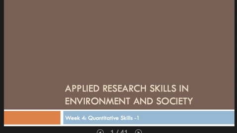 Thumbnail for entry Applied research skills week 4 lecture