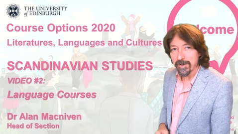 Thumbnail for entry Scandinavian Studies - Course Options Video 2 - Languages