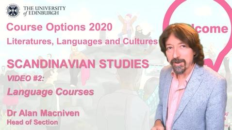 Thumbnail for entry Scandinavian Studies - Course Options Video 2 - Languages