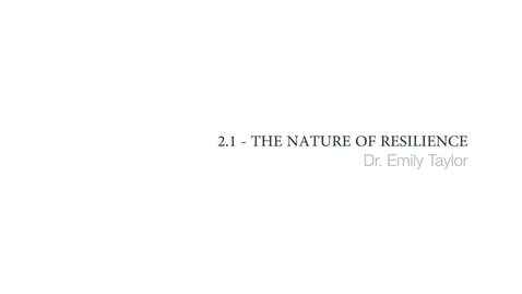 Clinical Psychology - The nature of resilience