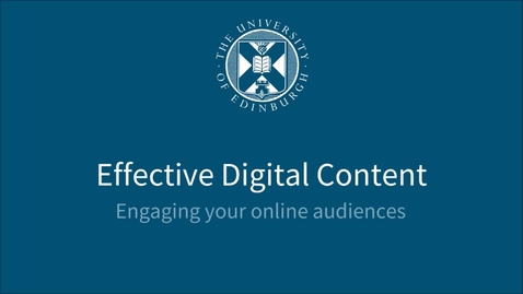 Thumbnail for entry Who are your users and how do they access your content? - Effective Digital Content