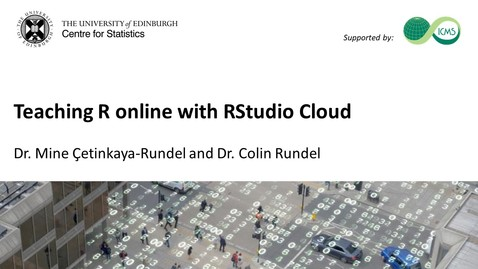 Thumbnail for entry Teaching R online with RStudio Cloud