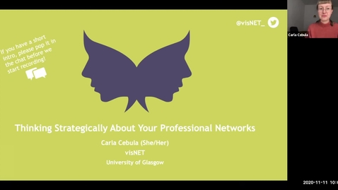 Thumbnail for entry 11th Nov: Thinking strategically about your professional networks to overcome gender barriers in academic career