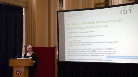 Thumbnail for entry Rebecca Grant (Digital Archivist, Digital Repository of Ireland)