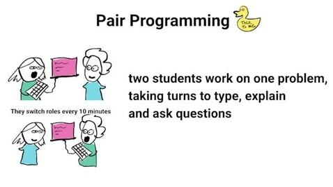 Thumbnail for entry Pair Programming - two students work on one problem, taking turns to type, explain and ask questions - UoE Teaching and Learning Conference 2021 - Fiona McNeill, Pawel Orzechowski