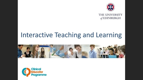 Thumbnail for entry Interactive Teaching and Learning 16.8.21