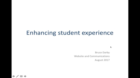 Thumbnail for entry Improving student experience with EdWeb
