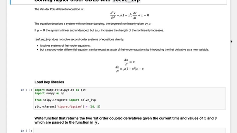 Thumbnail for entry Solving Differential Equations in Python: Higher order ODEs with solve_ivp