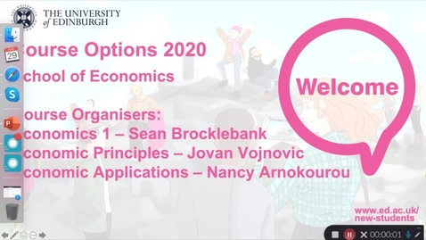 Thumbnail for entry Economics -  Course options: Economics 1, Economic Principles, Economic Applications