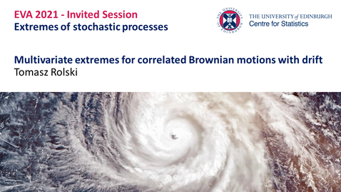 Thumbnail for entry Extremes of stochastic processes: Tomasz Rolski