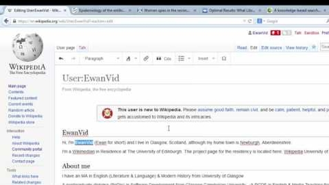 Thumbnail for entry Editing Wikipedia using Visual Editor: Part 1.2 Adding bold & italics