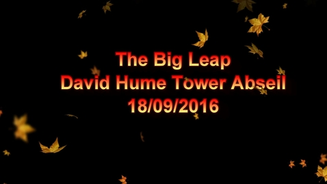 Thumbnail for entry Abseil David Hume Tower