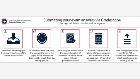 Thumbnail for entry School of Chemistry Exam Submission System Instructions