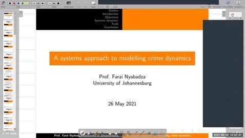 Thumbnail for entry UK-APASI in Mathematical Sciences: Farai Nyabadza