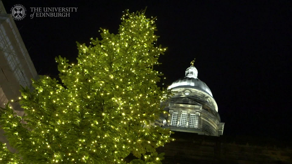 video thumbnail for old college christmas tree lights