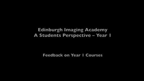 Thumbnail for entry Aldo, Imaging MSc online student - Year one courses