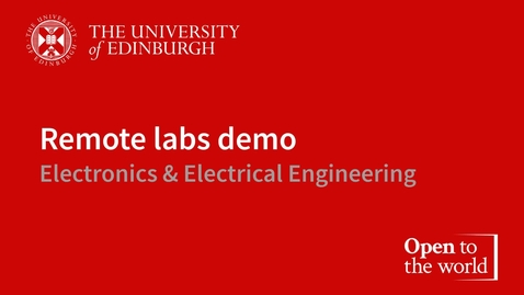 Thumbnail for entry Introduction to the remote labs  demonstration