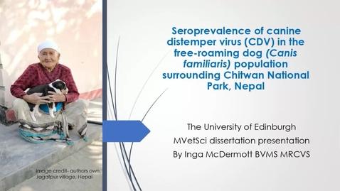 Thumbnail for entry Seroprevalence of Canine Distemper Virus