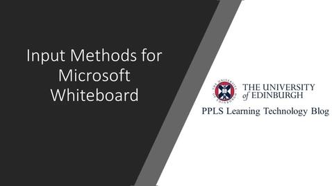 Thumbnail for entry PPLS Learning Technology Blog: Input Methods for Microsoft Whiteboard