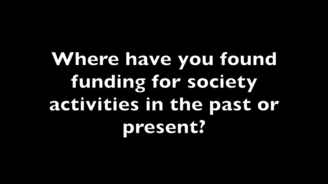 Thumbnail for entry Research staff society funding