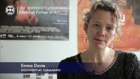 Thumbnail for entry Emma Davie -Documentary Filmmaking - Research In A Nutshell-Edinburgh College of Art-29/11/2012