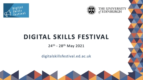 Thumbnail for entry Web of Science - Trusted Discovery - Digital Skills Festival Webinar