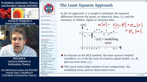 Thumbnail for entry Topic 49: Least Squares Estimation (PETARS, Chapter 6)