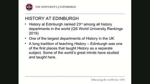 Thumbnail for entry An introduction to History postgraduate taught programmes 2020