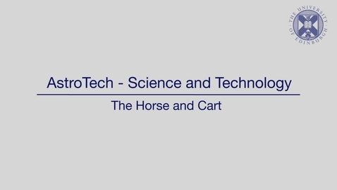 Thumbnail for entry AstroTech - Science and technology - The horse and the cart
