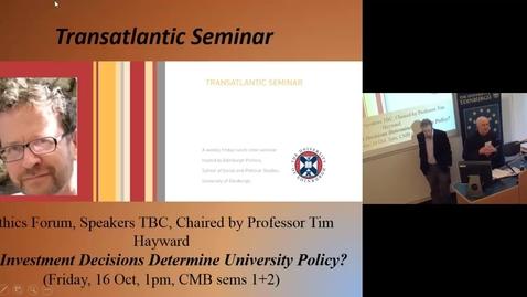 Thumbnail for entry Professor Jonathan Hearn (University of Edinburgh)
