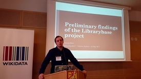 Thumbnail for entry Preliminary findings of the Librarybase project - James Hare at WikiCite 2017